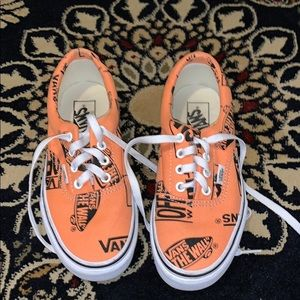 Vans Era Logo Tangerine and Black Skates Shoes